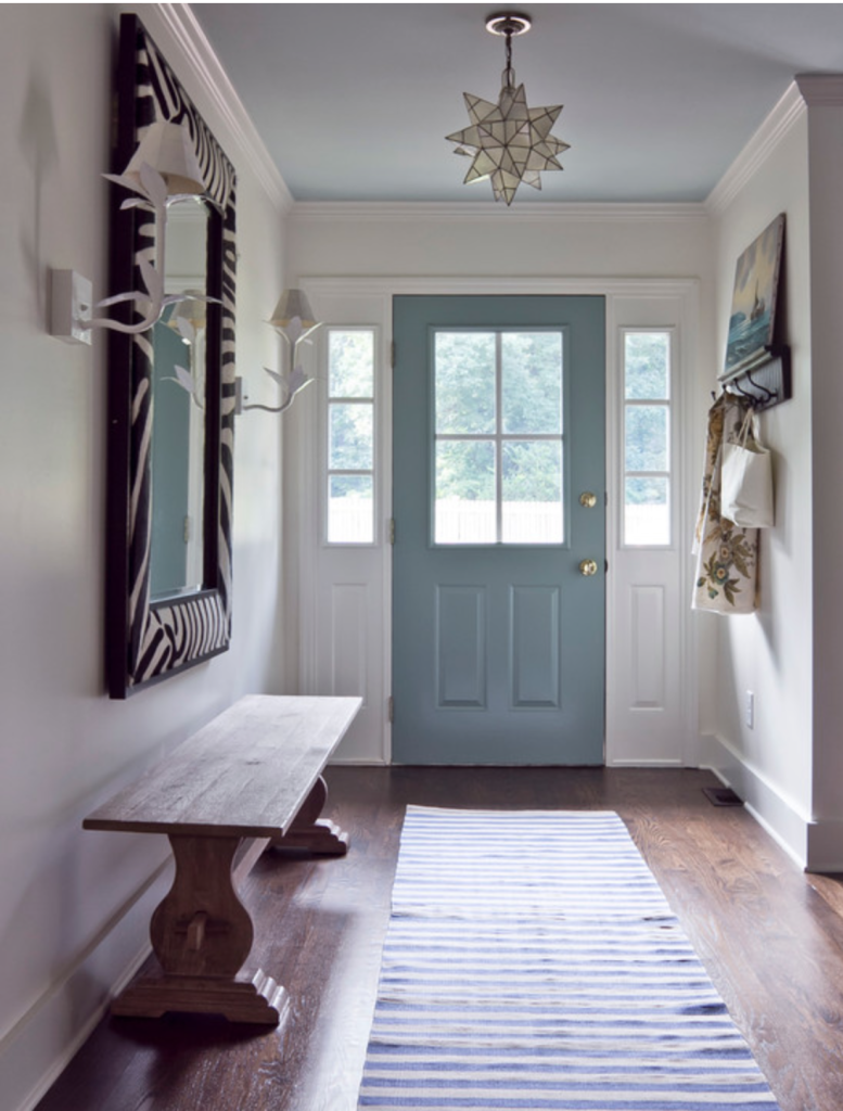 front door color light blue
