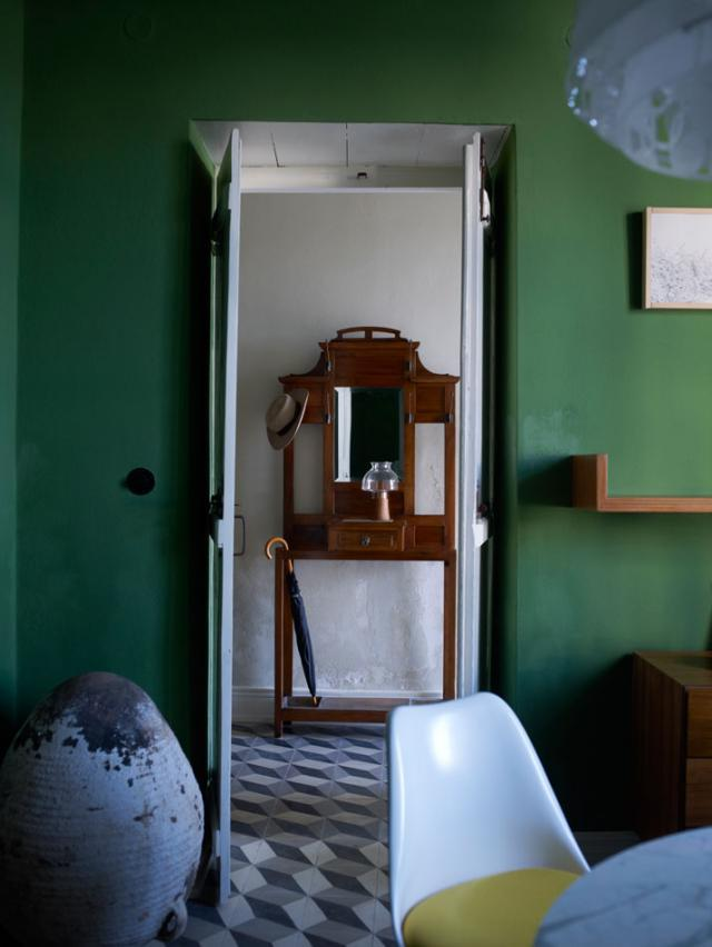 Green lime wash