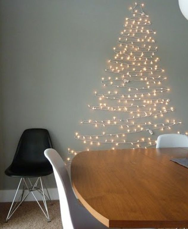 Pink Fairy Light Christmas tree