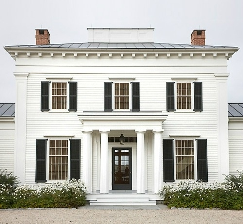 Colonial Home Exterior Trim Design Ideas: Exterior House Color Trends