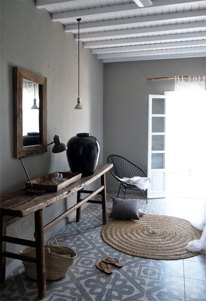 warm gray foyer