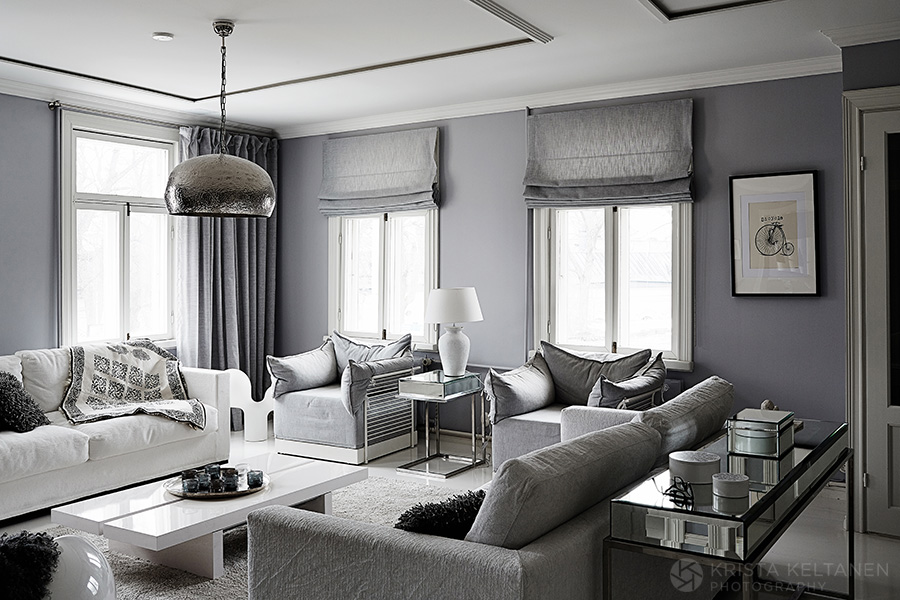 Boring gray living room