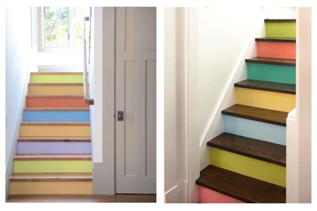 multi hued steps