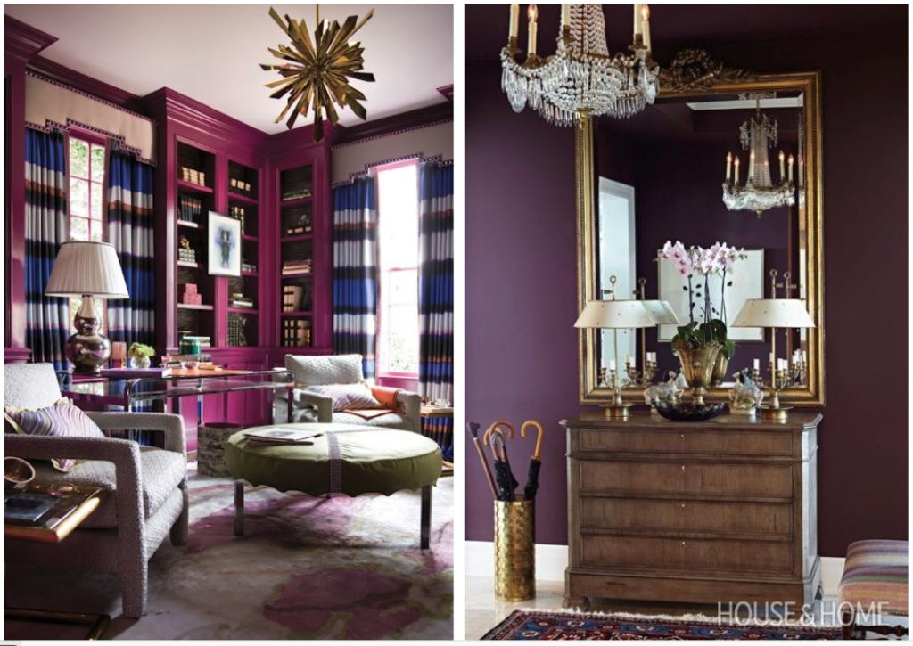 Jewel tones rooms