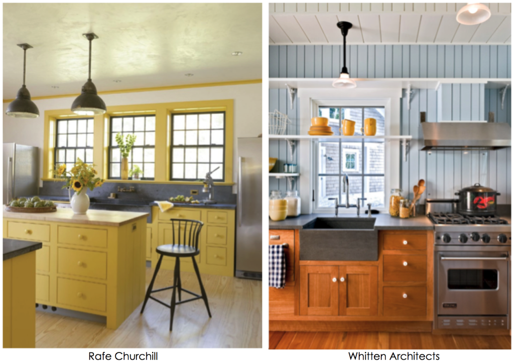 Blue Yellow Country Kitchen