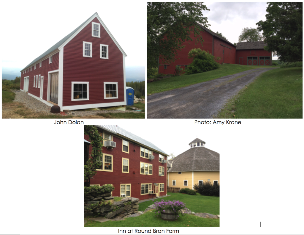 Trim choices for red barns