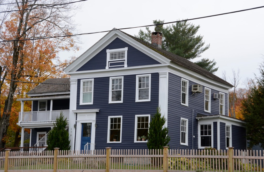 Great Barrington slate colored house.