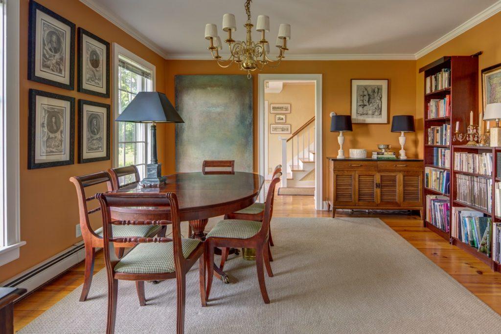 Benjamin Moore orange dining room color makeover