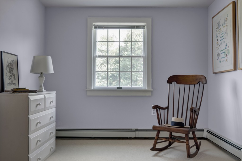 color makeover Benjamin Moore Ice Lavender bedroom