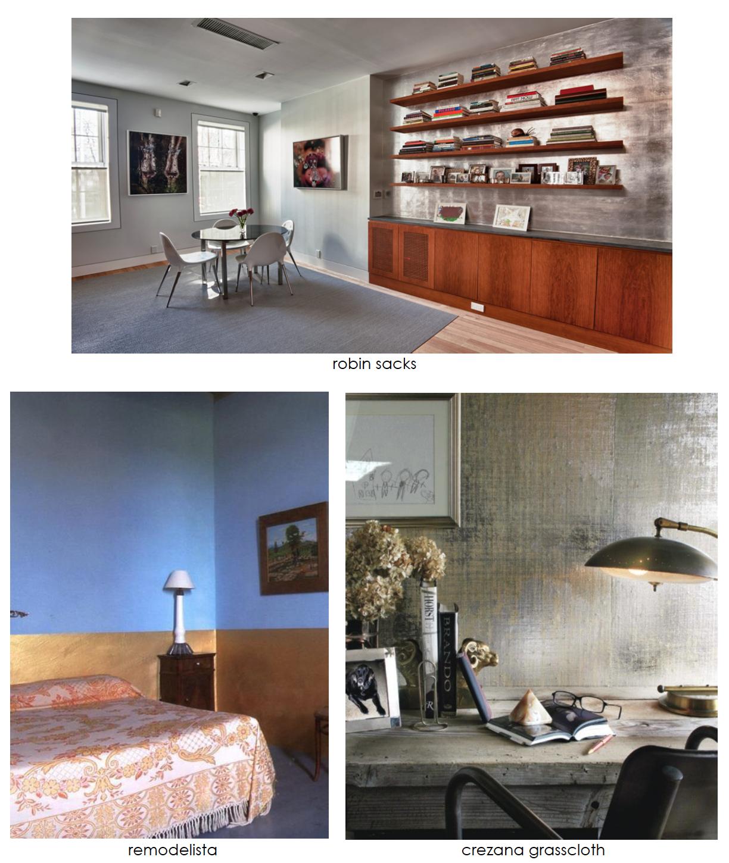 Metallic paint and wallpaper