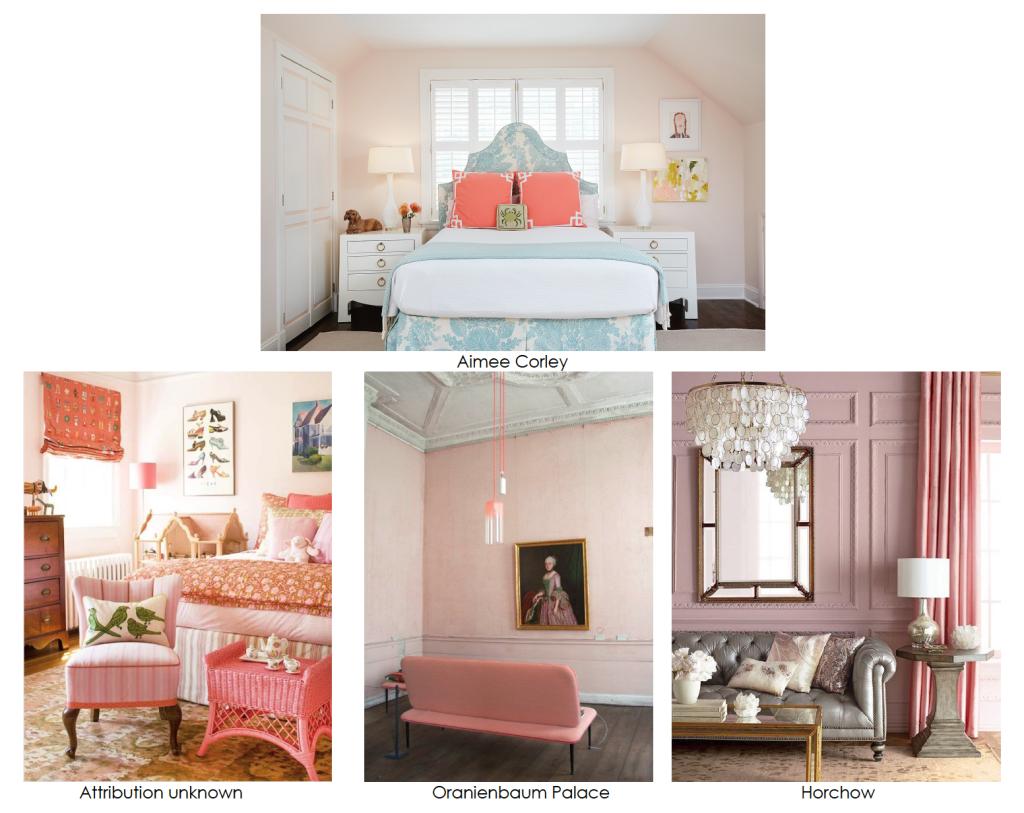 pastel pink rooms