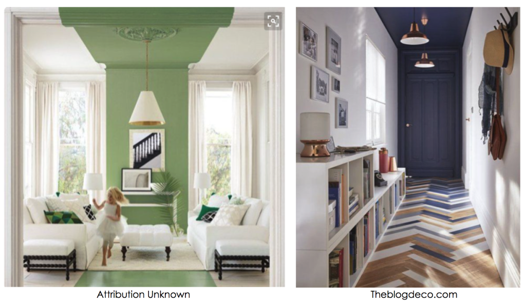 painting ceilings with color