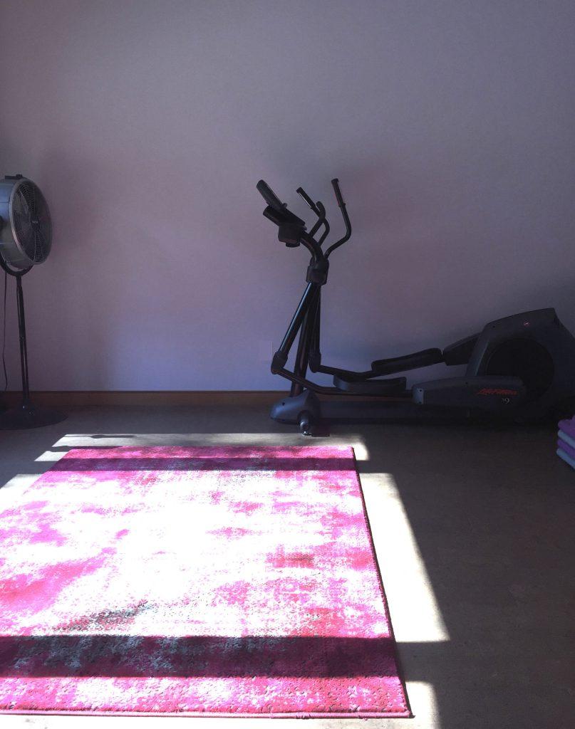 lavender yoga room