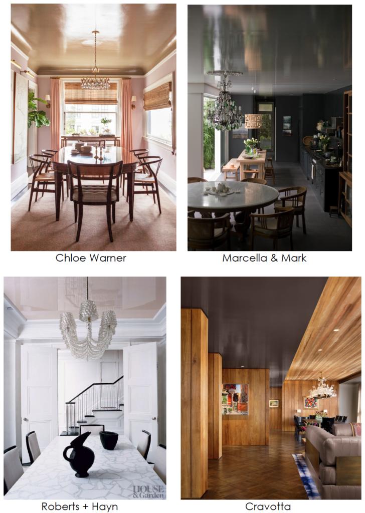 design trends high gloss ceilings
