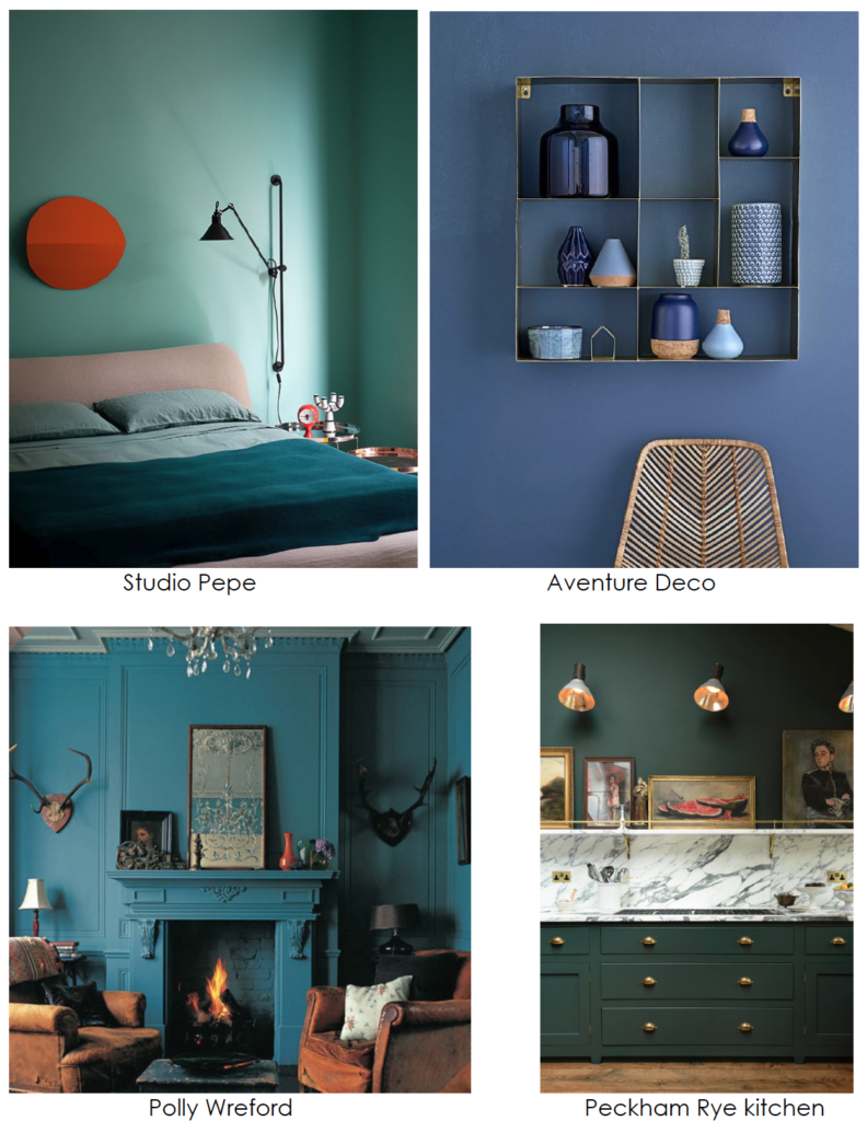 design trends blue and green