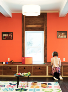 How to choose paint color with wood trim