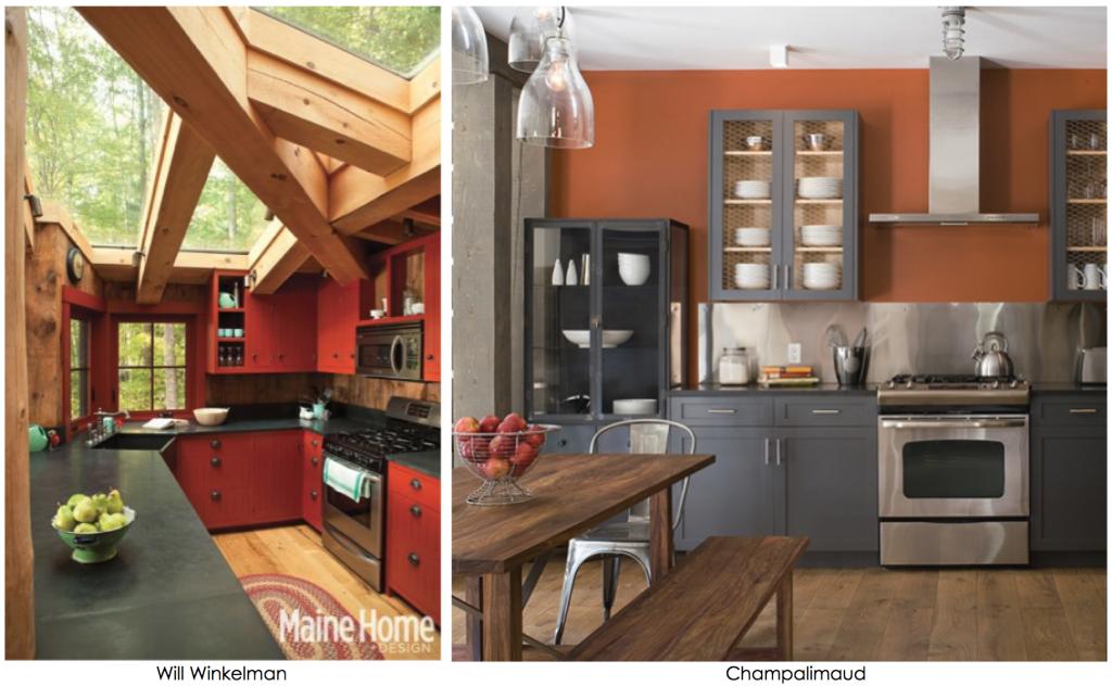 Red Kitchen Orange Warm Colored Kitchens